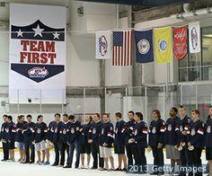 Men's Seeks Gold in Sochi. Get to know the team here. Olympic Hockey, Ice Hockey Teams, Men's Hockey, Hockey Party, Sports Party, Hockey Cakes, Hockey Bedroom, Minnesota Wild, Team Usa
