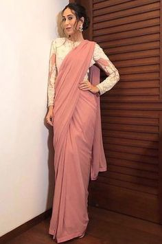 The celebratory season has begun and here are some style inspiration to ace your appearances glamorously just like a Varun Bahl muse. Whatsapp us now for personal shopping experience! Trendy Sarees, Stylish Sarees, Indian Designer Outfits, Designer Dresses, Indian Dresses, Indian Outfits, Sarees For Girls, Saree Blouse Neck Designs, Blouse Patterns