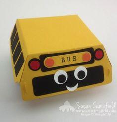 Happy School Bus Box with Hamburger Box Die