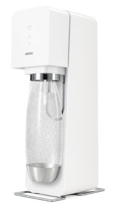Sodastream Source | This elegantly-designed device lets you carbonate any drink, from tap water to soft drinks. The included plastic bottle has a metal base and top, is completely reusable, and will last a while — compare that to those disposable bottles you get from the local grocery. LED lights on the machine's face let you accurately gauge your level of carbonation. ( $130 )