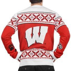 Wisconsin Badgers Unisex Klew Thematic Christmas In July Ugly Sweater - Red