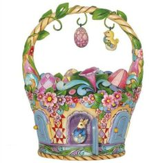 Jim Shore - Heartwood Creek - Easter Basket with Ornaments by Enesco - 4015583 by Jim Shore - Heartwood Creek. $44.95. 8.25in H x 7in W. Stone Resin. Figurine. Jim Shore Easter Basket with OrnamentsTitle Be Open To MiraclesIntroduction 2009 Figurine Stone Resin 8.25in H x 7in W
