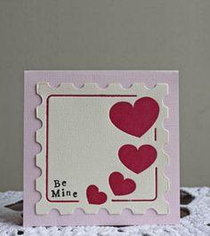 Hearts Stamp - Be Mine