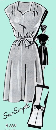 1950s Mail Order Pattern Sew Simple 8269 ROCKABILLY by sandritocat, $12.00