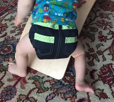 Bumcheeks cloth diaper Creatimber board Great nappy, great balance board!