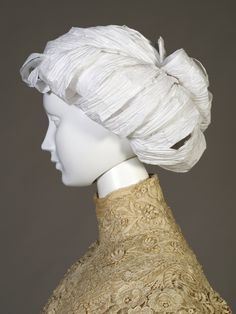Edwardian style paper wig. Made for Kent State University Museum's Timeline exhibit.