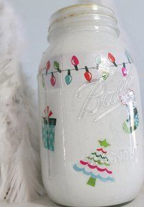 Christmas in a Mason Jar Decoration