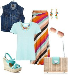 """Maxi Stripes"" by heather767 on Polyvore"