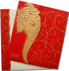 Beautiful Indian Wedding Card