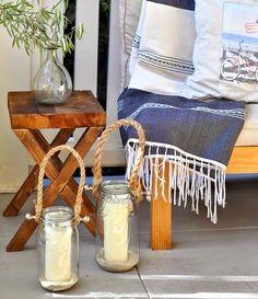 DIY Beachy Lanterns for the porch! http://www.completely-coastal.com/2015/05/diy-coastal-beach-summer-lanterns.html