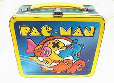 Vintage Pac Man Metal Lunch Box 1980 by moonula on Etsy, $26.00