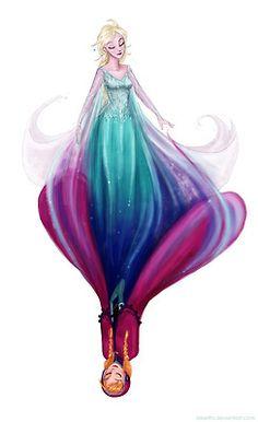 Fanart anna Princess Anna disney frozen elsa queen elsa coloured sketches