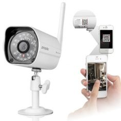 Low Price Zmodo ZP-IBH13-W 720P Color Sensor 80ft IR Night Vision IR-CUT Wi-Fi Outdoor Waterproof Wireless IP Camera White For Sale