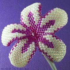 seed bead plumeria | Hawaiian Plumeria flower clip fuschia and pale by... review | buy ...