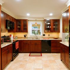 Daniels Design Kitchens   Kitchens With Black Appliances. Re Stain Existing  Cabinets!