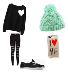 """""""Random cute outfit"""" by yayitsnickif ❤ liked on Polyvore featuring WithChic, Casetify and Vans"""