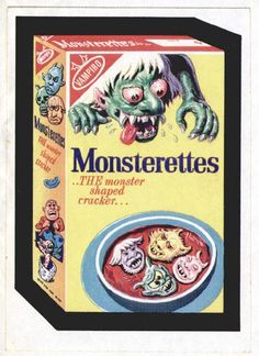 Wacky Packages. Monsterettes. A lost Wacky.