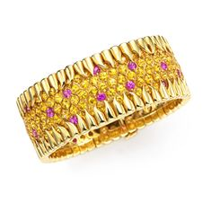 FD GALLERY | Rare & Vintage | A Yellow and Pink Sapphire Bracelet, by Jean Schlumberger, Tiffany & Co.