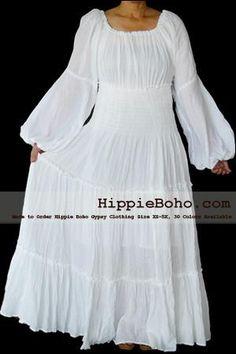 618c88dd75d No.043 - Beach Weddding Dress Curvy White Renaissance Plus Size Women s  Clothing Bohemian Peasant