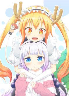 kobayashi-san chi no maid dragon, Tohru y Kanna