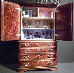 Fotos de Ferias - Aleson miniaturas (jt-beautiful little cabinet from Kensington Dolls House Festival 2011)