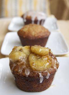 Sweetened with Honey: Banana Foster Cupcakes