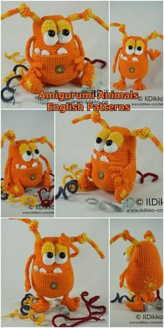 In this article we share free amigurumi animal crochet patterns. You can enjoy these beautiful amigurumi models with pleasure. Animal Knitting Patterns, Stuffed Animal Patterns, Crochet Patterns Amigurumi, Crochet Bear, Crochet Animals, Free Crochet, Crochet Frog, Amigurumi Animals, Amigurumi Toys