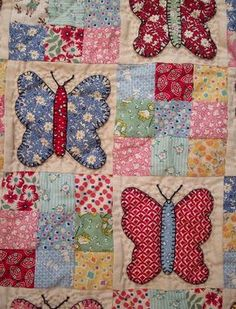 AUNTIE'S QUAINT QUILTS: Search results for butterflies