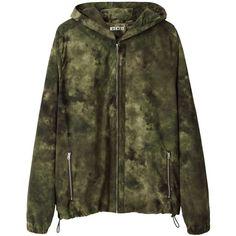 Acne Studios Wilfred Nylon Jacket (320 NZD) ❤ liked on Polyvore featuring men's fashion, men's clothing, men's outerwear, men's jackets, jackets, outerwear, coats, mens nylon jacket, mens green jacket and mens windbreaker jacket