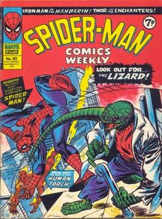 Spider-Man Comics Weekly #93. The Lizard & the Human Torch. Cover by Gil Kane.