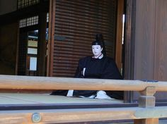 京都御所 A mannequin dressed in hoeki no sokutai