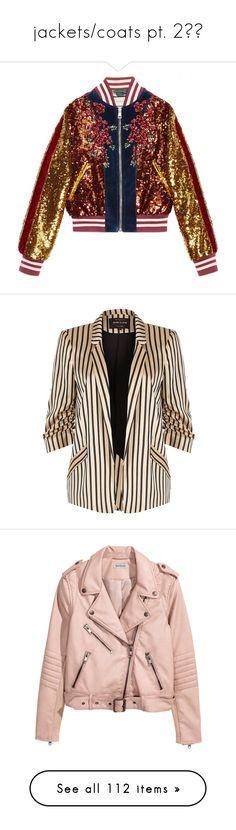 """jackets/coats pt. 2🌬🌬"" by mysquadtoowavy ❤ liked on Polyvore featuring outerwear, jackets, blue, sequin jacket, blue jackets, flower bomber jacket, embroidered bomber jackets, cat jacket, blazers and coats / jackets"