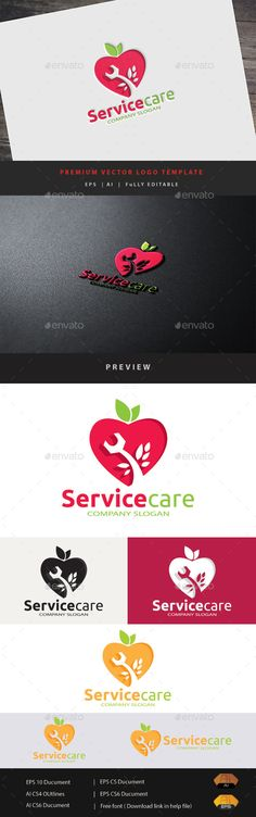 Service Care Logo Design Template Vector #logotype Download it here: http://graphicriver.net/item/service-care/12222041?s_rank=1097?ref=nexion