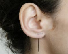 Hey, I found this really awesome Etsy listing at https://www.etsy.com/listing/237856774/silver-line-earrings-simple-ear-jackets