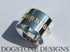 Ladies Chunky Silver Dogstone Ring  Contact - 0161 491 0624