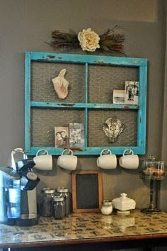 Totally Love It Tuesday...coffee bar with cute window accent