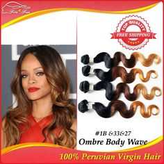 """Free shipping 4pcs lot 100g Unprocessed 100% Peruvian Virgin Human Hair Extensions Ombre Body Wave Three Tone Color 12""""-30"""" $121.75 - 263.75"""
