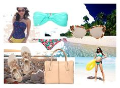 summer sensation by alexandragojdic on Polyvore featuring FOXCiTY, French Connection, Dorothy Perkins, Valentino, Tod's and Linda Farrow Luxe