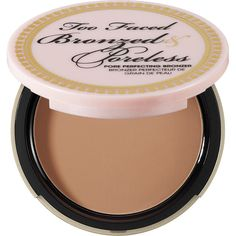 Too Faced Bronzed & Poreless Poreless Pore Perfecting Bronzer (£19) ❤ liked on Polyvore featuring beauty products, makeup, cheek makeup, cheek bronzer, bronzer, beauty, too faced cosmetics and bronzing powder