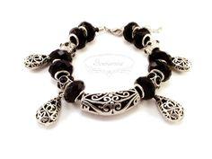 Gothic modular bracelet Pandora Charms, Gothic, Handmade Jewelry, Pendants, Charmed, Bracelets, Earrings, Ear Rings, Goth