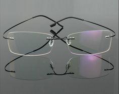 6132d37d2f0 Rimless Optical Frames Stainless Steel Rimless Spectacles Eyeglasses  Prescription Frameless Spectacle Glasses Super Light. Free