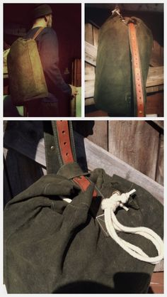 Waxed canvas & leather duffle bag