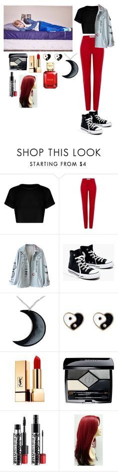 """Casual hangout with Rap Monster"" by gabby-galindo-97 ❤ liked on Polyvore featuring Loewe, Madewell, Curiology, Accessorize, Yves Saint Laurent, Christian Dior, MAC Cosmetics and Michael Kors"