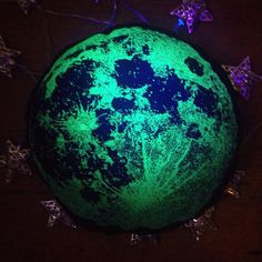 Full Moon Cotton Cushion Glow in the Dark Screen by LunaLotusUK