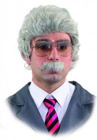 Perücke mit Bart Horst Schlämmer - wählbar mit Brille