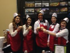 2015 Annual meeting for Tri-City Visitors  & Convention, these ladies were from  Mariotto Hotel serving Root Beer floats
