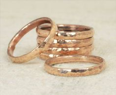 Super Thick Stackable Bronze Ring(s), Bronze Rings,Stackable Rings, Bronze Ring, Hammered Ring, Bronze Band, Arthritis Ring, Bronze Jewelry by Alaridesign