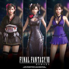 Final Fantasy Girls, Final Fantasy Cloud, Final Fantasy Characters, Final Fantasy Vii Remake, Fantasy Series, Cloud And Tifa, Cloud Strife, Final Fantasy Collection, Mileena