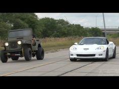 ▶ ZR-1 Corvette vs LSx Willy's Jeep - YouTube