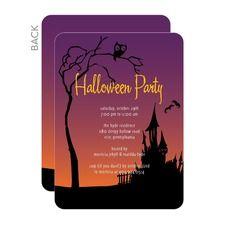 Haunted Lane Halloween Invitations